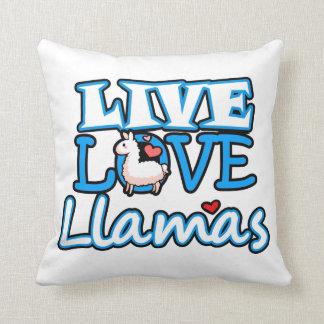 Live, Love, Llamas Cushion