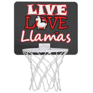 Live, Love, Llamas Mini Basketball Hoop