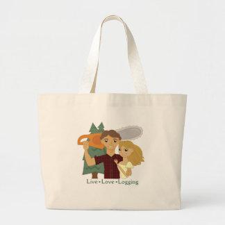 Live Love Logging Jumbo Tote Bag