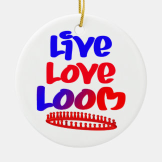Live Love Loom Christmas Ornament