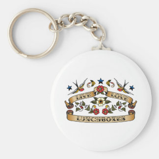 Live Love Lunchboxes Basic Round Button Key Ring