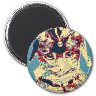 Live Love Meow Jester Cat Artwork 6 Cm Round Magnet