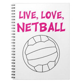 Live Love Netball Notebooks