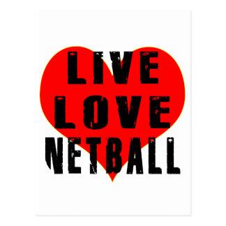 Live Love Netball Postcard