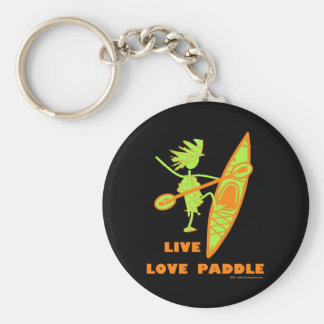 Live Love Paddle Basic Round Button Key Ring
