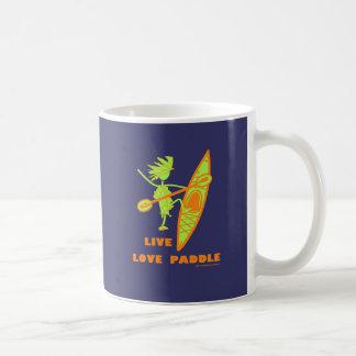 Live Love Paddle Basic White Mug