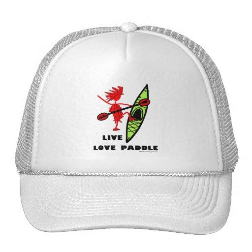 Live Love Paddle Hats