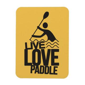 Live Love Paddle   Kayak Canoe Rectangular Photo Magnet