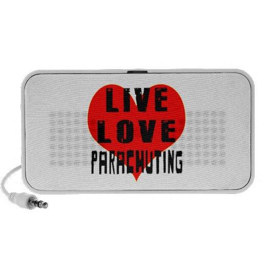 Live Love Parachuting Notebook Speakers
