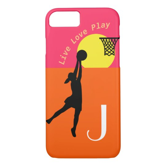 Live Love Play Personalised Netball Design iPhone 8/7