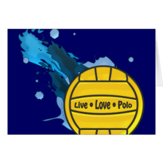 Live Love Polo - Water Polo Greeting Cards