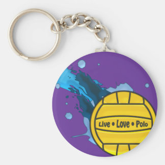 Live Love Polo - Water Polo Keyring Basic Round Button Key Ring