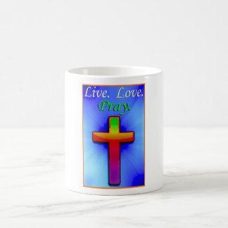 Live Love Pray (#1) Basic White Mug