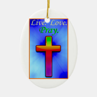 Live Love Pray (#1) Ceramic Oval Decoration