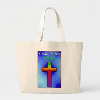 Live Love Pray (#1) Jumbo Tote Bag