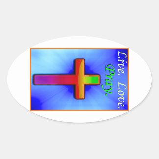 Live Love Pray (#1) Oval Sticker