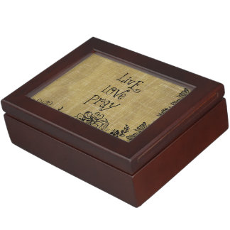 Live Love Pray Christian Quote Affirmation Memory Boxes