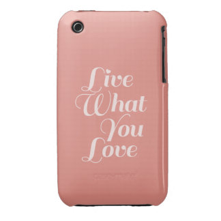 Live Love Quote Gifts Salmon iPhone 3 Cases