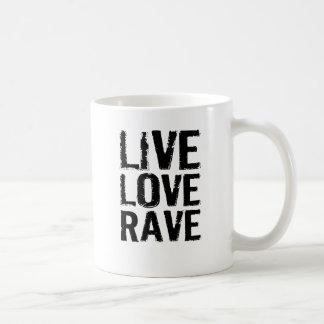 Live Love Rave Basic White Mug