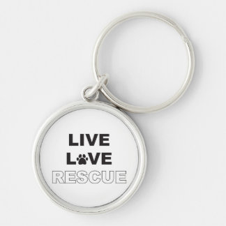 Live Love Rescue Key Ring