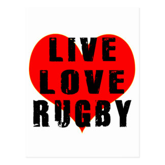 Live Love Rugby Postcard