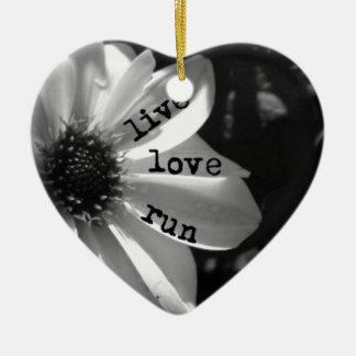 Live Love Run by Vetro Designs Christmas Ornament