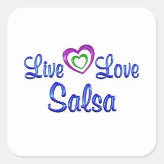 Live Love Salsa Square Sticker