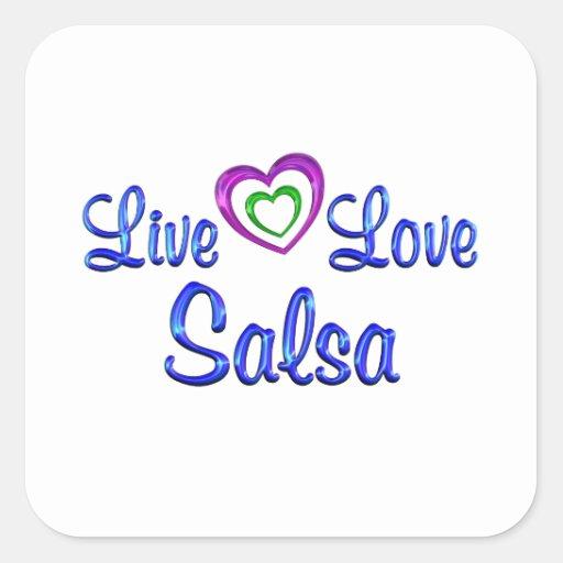 Live Love Salsa Sticker
