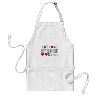LIVE LOVE SCOTTISH COUNTRY DANCING DANCE STANDARD APRON