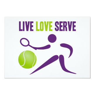 Live. Love. Serve. 13 Cm X 18 Cm Invitation Card