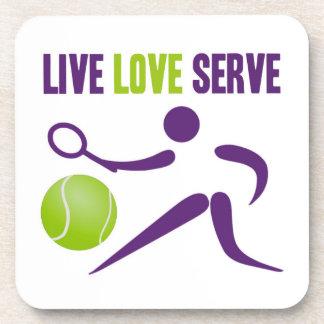 Live. Love. Serve. Drink Coasters