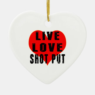 Live Love Shot Put Ceramic Heart Decoration