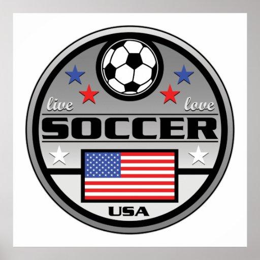 Live Love Soccer America Poster