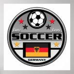 Live Love Soccer Germany Print