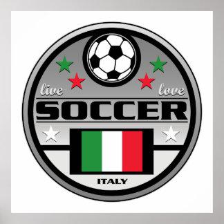 Live Love Soccer Italy Print