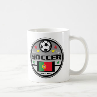 Live Love Soccer Portugal Basic White Mug