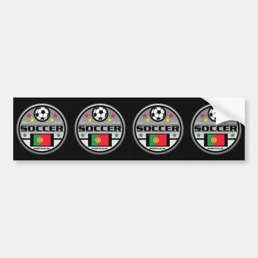 Live Love Soccer Portugal Bumper Sticker