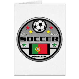 Live Love Soccer Portugal Greeting Card