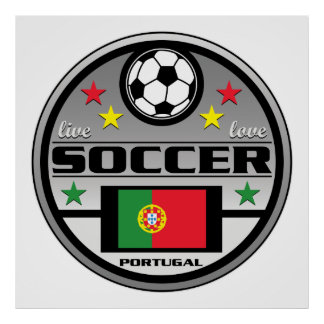 Live Love Soccer Portugal Poster