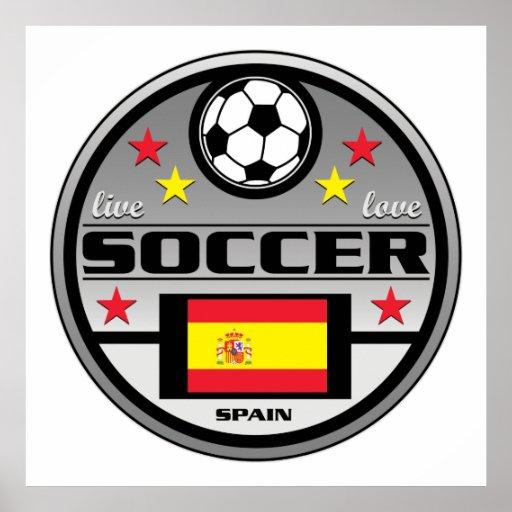 Live Love Soccer Spain Print