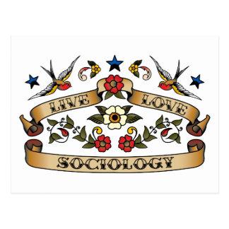 Live Love Sociology Postcard