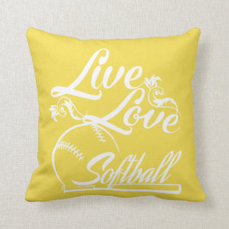 LIVE - LOVE - SOFTBALL CUSHION
