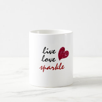 Live Love Sparkle Coffee Mug