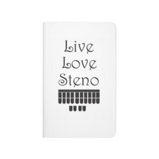 Live Love Steno Notebook
