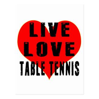 Live Love Table Tennis Postcard
