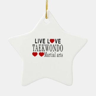 LIVE LOVE TAEKWONDO MARTIAL ARTS CERAMIC STAR DECORATION