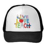 Live Love Teach Mesh Hats