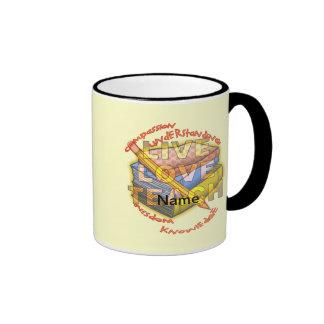 Live Love Teach Ringer Mug