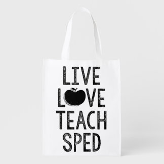 Live. Love. Teach. SPED. Tote