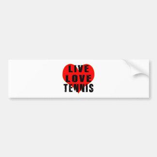 Live Love Tennis Bumper Sticker